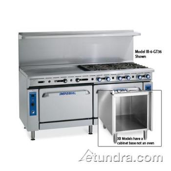 "IMPIR4G36XB - Imperial - IR-4-G36-XB - 60"" Range w/ 4 Burners, 36"" Griddle, Standard Oven & Cabinet Product Image"