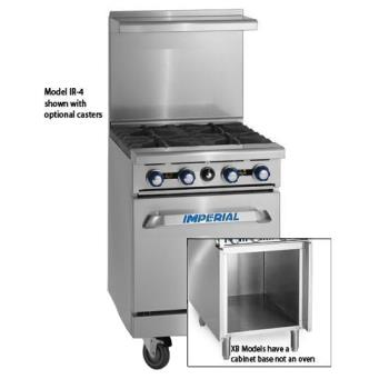 "IMPIR4S18XB - Imperial - IR-4-S18-XB - 36"" Wide Range w/ 4 Burners & Cabinet Product Image"