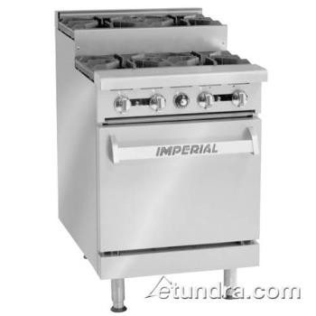"IMPIR4SU - Imperial - IR-4-SU - 24"" Step-up Range w/ 4 Burners & Standard Oven Product Image"