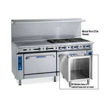 IMPIR6G12XB - Imperial - IR-6-G12-XB - 48 in 6-Burner Gas Range w/ Griddle, Standard Oven and Cabinet Base Product Image