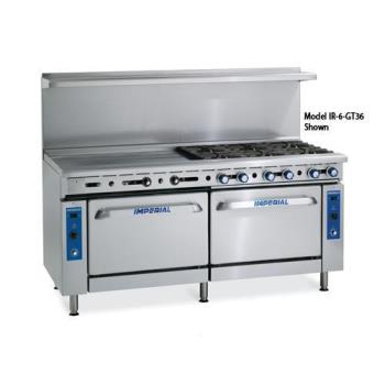 IMPIR6G36 - Imperial - IR-6-G36 - 72 in 6-Burner Gas Range w/ Griddle and Standard Ovens Product Image