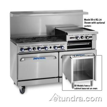 "IMPIR6RG24XB - Imperial - IR-6-RG24-XB - 60"" Range w/ 6 Burners, 24"" Raised Griddle, Standard Oven & Cabinet Product Image"