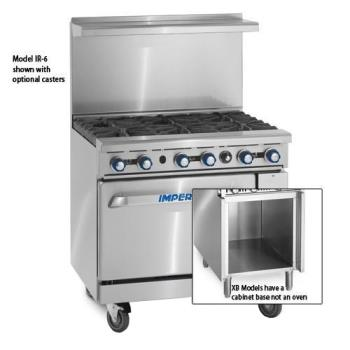 IMPIR6XB - Imperial - IR-6-XB - 36 in 6-Burner Gas Rangw w/ Cabinet Base Product Image