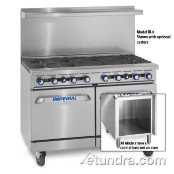 "IMPIR8CXB - Imperial - IR-8-C-XB - 48"" Range w/ 8 Burners, Convection Oven & Cabinet Product Image"