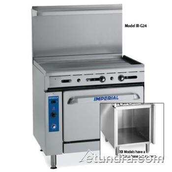 "IMPIRG48CXB - Imperial - IR-G48-C-XB - 48"" Range w/ 48"" Griddle, Convection Oven & Cabinet Product Image"