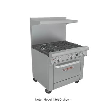 SOU4361A - Southbend - 4361A - 36 in 6-Burner 400 Series Gas Range w/ Convection Oven Product Image
