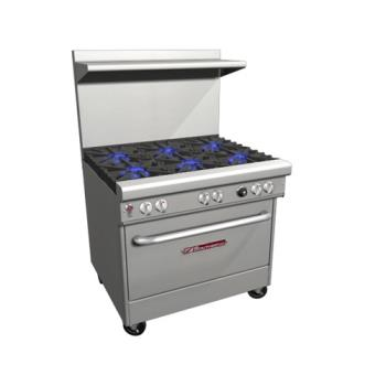 SOU4363A - Southbend - 4363A - 400 Series 36 in Restaurant Range with 6 Star Saute Burners & Convection Oven Product Image