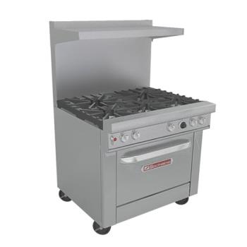 SOU4365A - Southbend - 4365A - 400 Series 36 in Ultimate Range with 5 Burners and Convection Oven Product Image