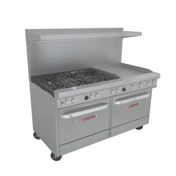 SOU4601DD2GR - Southbend - 4601DD-2GR - 60 in 6-Burner 400 Series Gas Range w/ Griddle and Standard Ovens Product Image