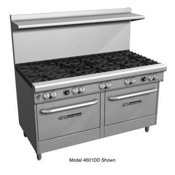 SOU4603DD2RR - Southbend - 4603DD-2RR - 400 Series 60 in Restaurant Range with 6 Star Saute Burners and Raised Griddle/Broiler Product Image