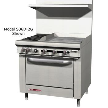 SOUS36D2G - Southbend - S36D-2G - 36 in 2-Burner S-Series Gas Range w/ Griddle and Standard Oven Product Image