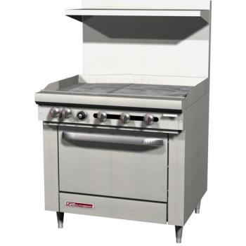 SOUS36D3G - Southbend - S36D-3G - S-Series 36 in Manual Griddle and Standard Oven Product Image
