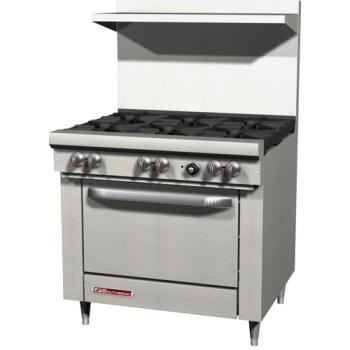 95442 - Southbend - S36D - S Series 36 in Restaurant Range with 6 Burners & Standard Oven Product Image