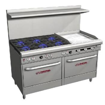 SOUS60DD2G - Southbend - S60DD-2G - S-Series 60 in  Range with 6 Burners and 24 in Griddle Product Image