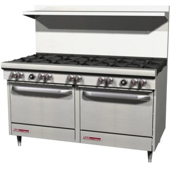SOUS60DD - Southbend - S60DD - 300 Series 60 in Restaurant Range with 10 Burners and Standard Ovens Product Image
