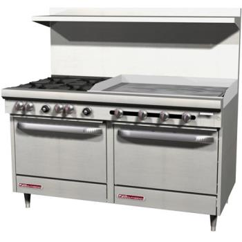 SOUS60DD3G - Southbend - S60DD-3G - S-Series 60 in Restaurant Range with 4 Burners and 36 in Griddle Product Image