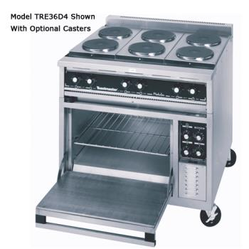 "TOATRE36D1 - Toastmaster - TRE36D1 - 36"" Range w/(3) Hot Tops & Deck Oven Product Image"