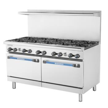 TURTAR10 - Turbo Air - TAR-10 - 60 in Restaurant Range w/ 10 Burners & Standard Oven Product Image