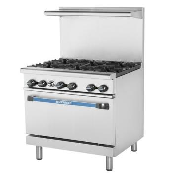 TURTAR6 - Turbo Air - TAR-6 - 36 in 6-Burner Radiance Series Gas Range w/ Standard Oven Product Image