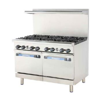 TURTAR8 - Turbo Air - TAR-8 - 48 in Restaurant Range w/ 8 Burners & (2) Standard Ovens Product Image