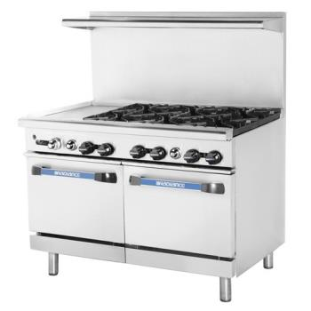TURTARG12G6B - Turbo Air - TARG-12G6B - 48 in 6-Burner Radiance Series Gas Range w/ Griddle and Standard Oven Product Image