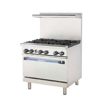 TURTARG24G2B - Turbo Air - TARG-24G2B - 36 in 2 Burner Gas Range w/24 in Left Side Griddle Product Image