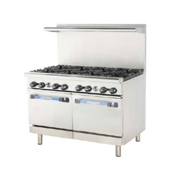 TURTARG24G4B - Turbo Air - TARG-24G4B - 48 in 4 Burner Gas Range w/24 in Left Side Griddle Product Image