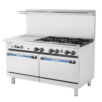 TURTARG24G6B - Turbo Air - TARG-24G6B - 60 in 6 Burner Gas Range w/24 in Left Side Griddle Product Image