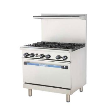 TURTARG2B24G - Turbo Air - TARG-2B24G - 36 in 2 Burner Gas Range w/24 in Right Side Griddle Product Image