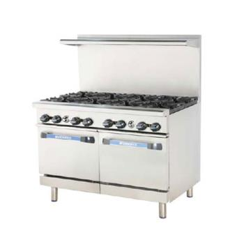 TURTARG2B36G - Turbo Air - TARG-2B36G - 48 in 2 Burner Gas Range w/36 in Right Side Griddle Product Image
