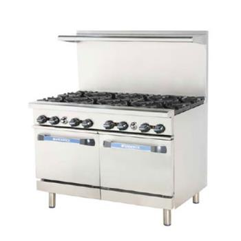TURTARG6B12G - Turbo Air - TARG-6B12G - 48 in 6 Burner Gas Range w/12 in Right Side Griddle Product Image