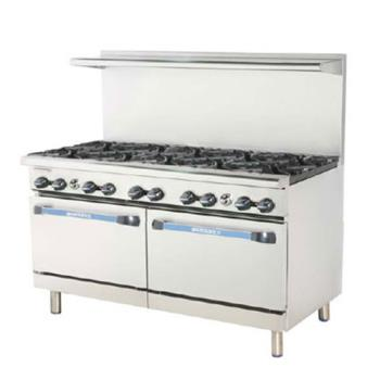 TURTARG6B24G - Turbo Air - TARG-6B24G - 60 in 6 Burner Gas Range w/24 in Right Side Griddle Product Image