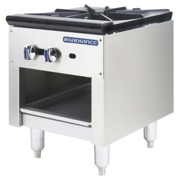 TURTASP18 - Turbo Air - TASP-18 - 18 in 1-Burner Radiance Series Gas Stock Pot Range Tall Product Image