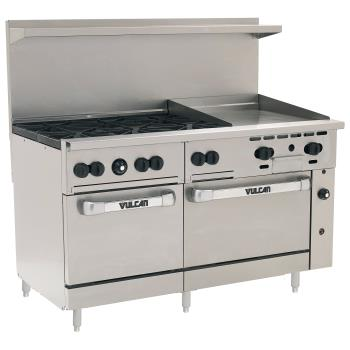 VUL60SS6B24G - Vulcan Hart - 60SS-6B24G - 60 in 6-Burner Endurance Series Gas Range w/ Griddle and Standard Ovens Product Image