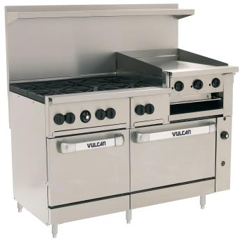 VUL60SS6B24GB - Vulcan Hart - 60SS-6B24GB - 60 in 6-Burner Endurance Series Gas Range w/ Griddle, Broiler and Standard Ovens Product Image
