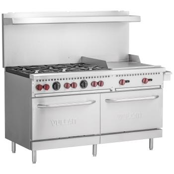 VULSX60F6B24G - Vulcan Hart - SX60F-6B24G - 60 in 6-Burner SX-Series Gas Range w/ Griddle and Standard Ovens Product Image