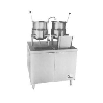 SOUDMT106 - Southbend - DMT-10-6 - (1) 10 & (1) 6 Gallon Direct Steam Floor Steam Kettle Product Image