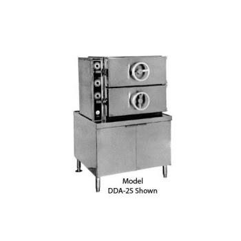 SOUGC2S - Crown Steam - GC-2 - 2 Compartment Pressure Steamer with  Gas Boiler Product Image