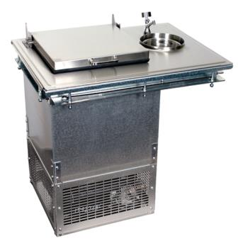 GLTDIFRDW - Glastender - DI-FR-DW - 1-Section Drop-in Ice Cream Freezer w/Dipperwell Product Image