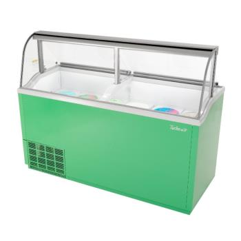 TURTIDC70GN - Turbo Air - TIDC-70G-N - 70 in Green Ice Cream Dipping Cabinet Product Image