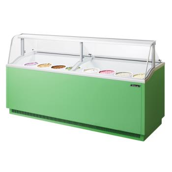 TURTIDC91G - Turbo Air - TIDC-91G - 91 in Green Ice Cream Dipping Cabinet Product Image