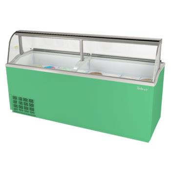 TURTIDC91GN - Turbo Air - TIDC-91G-N - 91 in Green Ice Cream Dipping Cabinet Product Image
