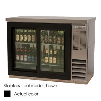 BEVBB48GSY1BPT - Beverage Air - BB48GSY-1-B-PT - 48 in Glass Door Pass Thru Back Bar Cooler Product Image