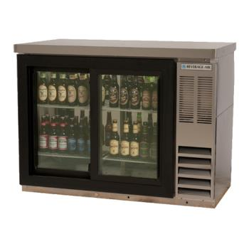 BEVBB48GSY1SPT - Beverage Air - BB48GSY-1-S-PT - 48 in Glass Door Pass Thru Back Bar Cooler Product Image