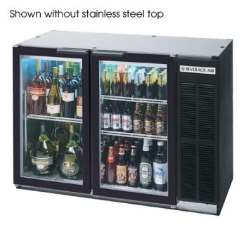 BEVBB48GY1B27 - Beverage Air - BB48GY-1-B-27 - 48 in Glass Door Back Bar Cooler w/ S/S Top Product Image