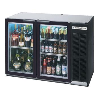 BEVBB48GY1B - Beverage Air - BB48GY-1-B - 48 in Glass Door Back Bar Cooler Product Image