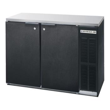 BEVBB48Y1B27 - Beverage Air - BB48Y-1-B-27 - 48 in Solid Door Back Bar Cooler w/ S/S Top Product Image