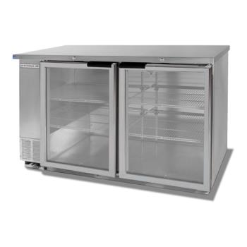 BEVBB58G1S - Beverage Air - BB58G-1-S - 59 in Glass Door Back Bar Cooler Product Image