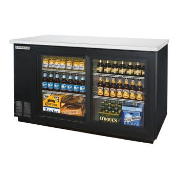 BEVBB58GSY1B - Beverage Air - BB58GS-1-B - 59 in Glass Door Back Bar Cooler with Sliding Doors Product Image
