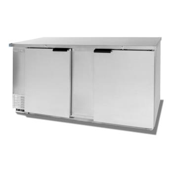BEVBB681S - Beverage Air - BB68-1-S - 69 in Solid Door Back Bar Cooler Product Image